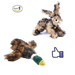 BLUEISLAND Dog Squeaky Toys, Puppy Small Dog Chew Toys, 2 Pc