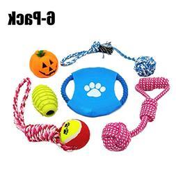 Legendog Dog Toy, 6 Pack Halloween Dog Toy Bite Resistant Co