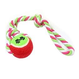 LCY Dog Toy Ball Cotton Rope, Nontoxic Bite Resistant for Pe