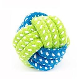 Iuhan Dog Toy Dog Chews Cotton Rope Knot Ball Grinding Teeth