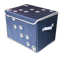 """Feline Ruff Large Dog Toys Storage Box 16"""" x 12"""" Pet Toy Sto"""