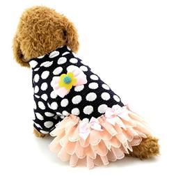 SMALLLEE_LUCKY_STORE Dog Tutu Dress Small Girl Dog Outfits C
