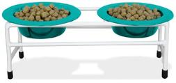 Platinum Pets Double Diner Feeder with Stainless Steel Cat B