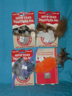 Kong Dr Noys Cat toy field mouse, squirrel, carrot, mice + f