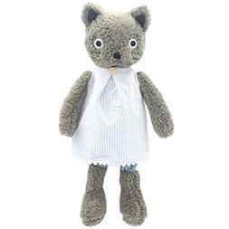 JIARU Stuffed Animals Cats Plush Toys Dressed Dolls with Rem