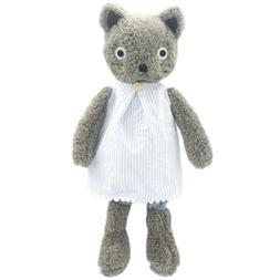 JIARU Dressed Stuffed Animals Grey Cats Plush Toys Dolls 9 I