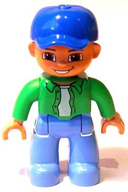 Lego Duplo Man with Blue Baseball Cap and Green Shirt