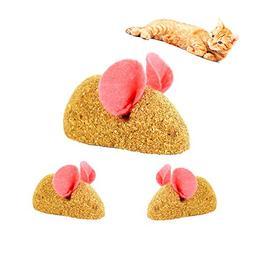 CamRom Edible Cat Catnip Mice Toy, 3-Pack,100% Compressed Ca