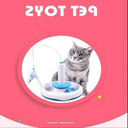 Electric Pet Puppy Cat Toys Round Swivel Plate Cat Teaser Wa