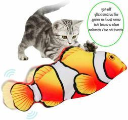 Electric Realistic Interactive Fish Cat Kicker Dancing Flipp