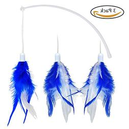 Bascolor Electric Rotate Interactive Feather Cat Toy Set of