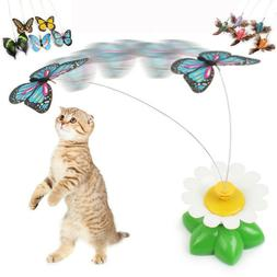 electric rotating butterfly bird rod wire cat