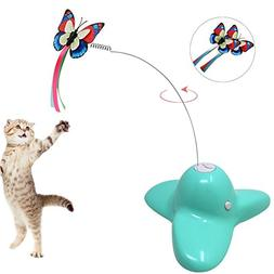 Electric Rotating Butterfly Cat Toys,Homedeco Fly By Spinner