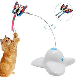 Bascolor Electric Rotating Butterfly Cat Toys Two Flashing B