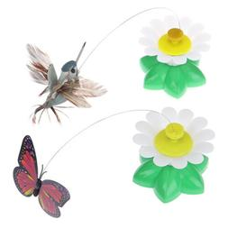 Electric Rotating Colorful Butterfly Funny dog Cat Toys bird