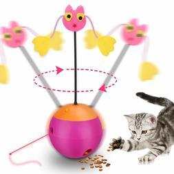 Electric Tumbler Ball Cat Toy Leaking Feed Pet Toys Multi-fu