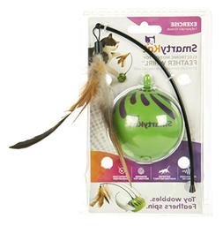 Electronic Motion Cat Toys Spinning Feather Whirl Toy Wobble