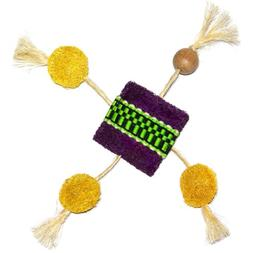 Eco-Loofah Ethnic Maka Talisman Frisbee Cat Toy, Purple