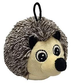 4 Inch Ez Squeaky Hedgehog Round Dog Toy By Petlou