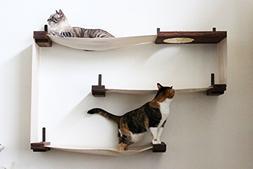 fabric cat maze multiple level