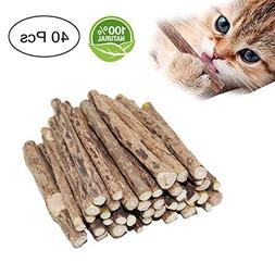 Fanxieast Cat Catnip Sticks,40 Pieces Cat Catnip Natural Mat