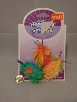 Hartz™ Fashion Fuzzies™ Cat Toys 3 Count Yellow Red Gree