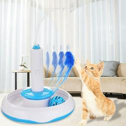 Feather Fitness Rotating Pet Cat Toys Electric Teaser Funny