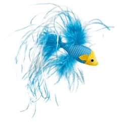 "Leaps & Bounds Feathered Fish Cat Toy with Catnip, 4.5"" Leng"