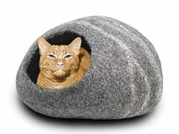 MEOWFIA Premium Felt Cat Cave Bed  - Eco-Friendly 100% Merin