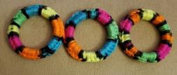 Ferret Cat Small Animal Crochet Ring Toys - Rainbow