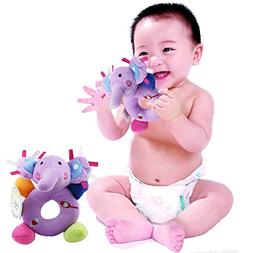 Baby's First Wrist Rattle Learning Stuffed Animal Hand Bell