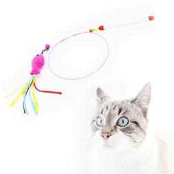 BleuMoo False Fish Cat Toys Colorful Feather Funny Playing C