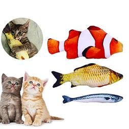 Anfire Fish Toys Cat, Interactive Catnip Simulation Fish Toy
