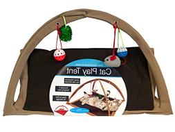 bulk buys Fleece Cat Play Tent with Dangle Toys - Pack of 1