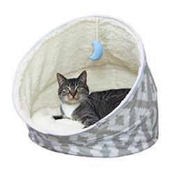 Kitty City Premium Fleece Comfy Moon Bed- Multifunction, Col