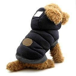 SELMAI Fleece Dog Hoodie Winter Coat for Small Boy Dog Cat P