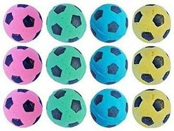 PETFAVORITES Foam Soccer Balls Cat Toys - Pack of 12