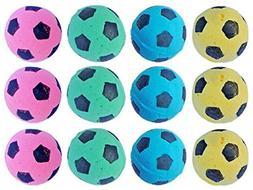 Foam Soccer Balls Pet Cat Fun Soft Sponge Toys Nontoxic Pack