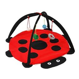 Lovely summer Foldable Cat Activity Center with Hanging Toy