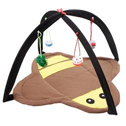 She-love Foldable Cat Play Toy Tent Mat Activity Center Pet