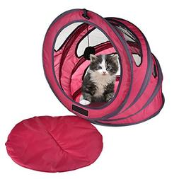 Yunt Foldable Cat Tunnel Pet Toy Tents Portable Pet House Ki