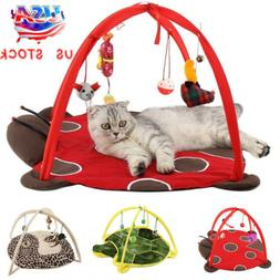 Foldable Pet Cat Activity Playing Tent Toys Bed Pad Blanket
