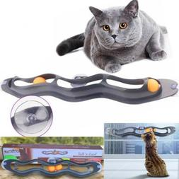 Fun Cat Pet Interactive Track Ball Toys Window Suction Mount