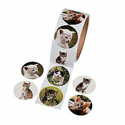 Fun Express Paper Cat Photo Roll of Stickers (100 Stickers p