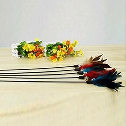 fun kitten toy cat feather