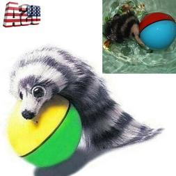Fun Beaver Weasel Rolling Motor Ball Dog Cat Kids Chaser Jum