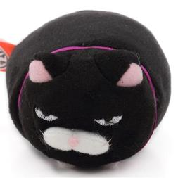 Small funny black cat purple collar Hige Manjyu plush toy fr