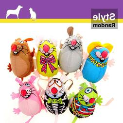 Funny Cat Chew Toys Colorful Canvas Mouse Mice Catmint Catni