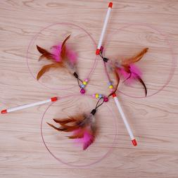 Funny Cat  Kitten Pet Teaser Feather Wire Chaser Pet Toy Wan