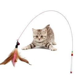 Funny Cat / Kitten Pet Teaser Feather Wire Chaser Pet Toy Wa